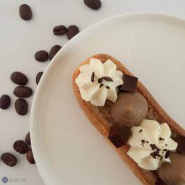 Éclair mit Kaffee und Irish Cream – Zeit für eine Kaffeepause