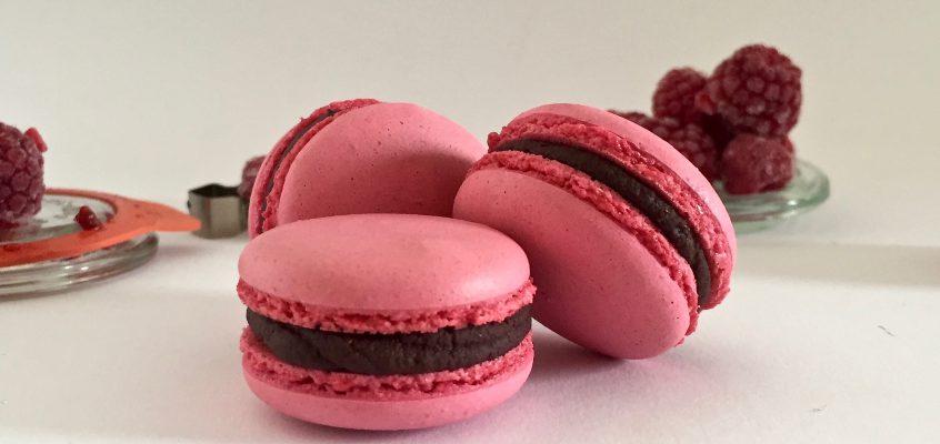 Himbeer-Macarons – Fruchtig, schokoladig, saisonal