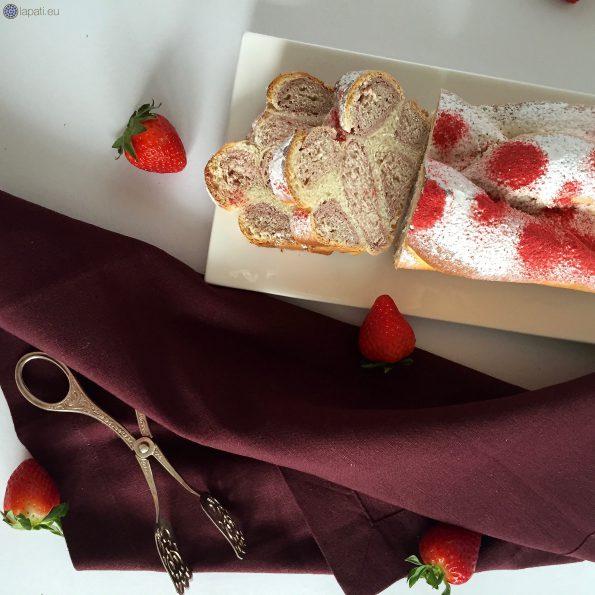 Der Anschnitt des rosaroten Leopardenkuchens macht doch gleich Lust auf mehr.