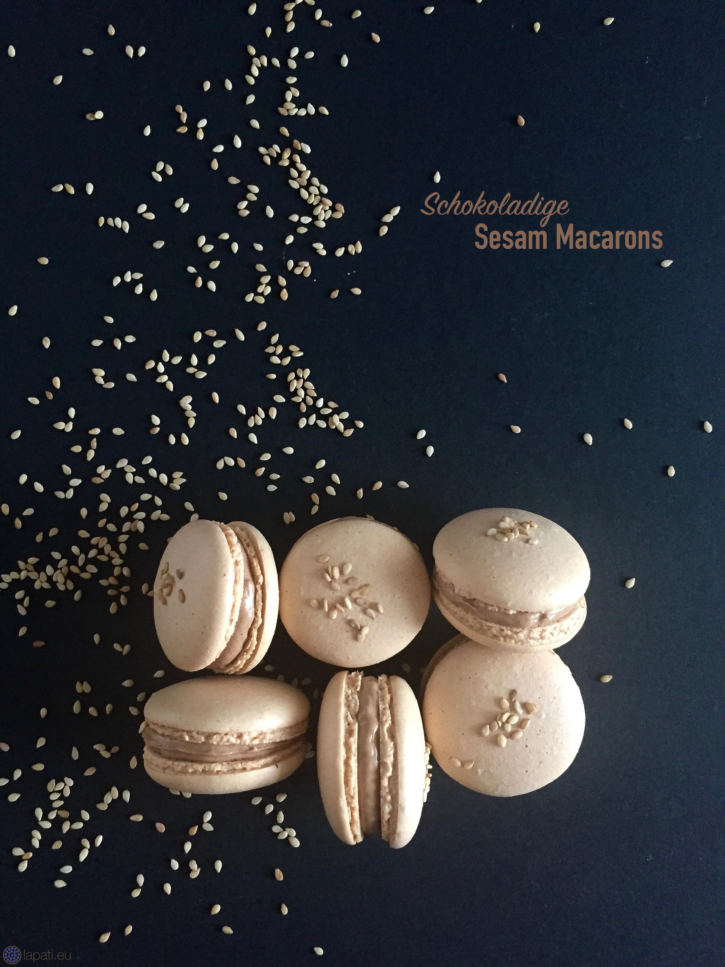 Feine Sesam-Macarons: Die Kombination von Schokolade und Sesam ist einfach super.