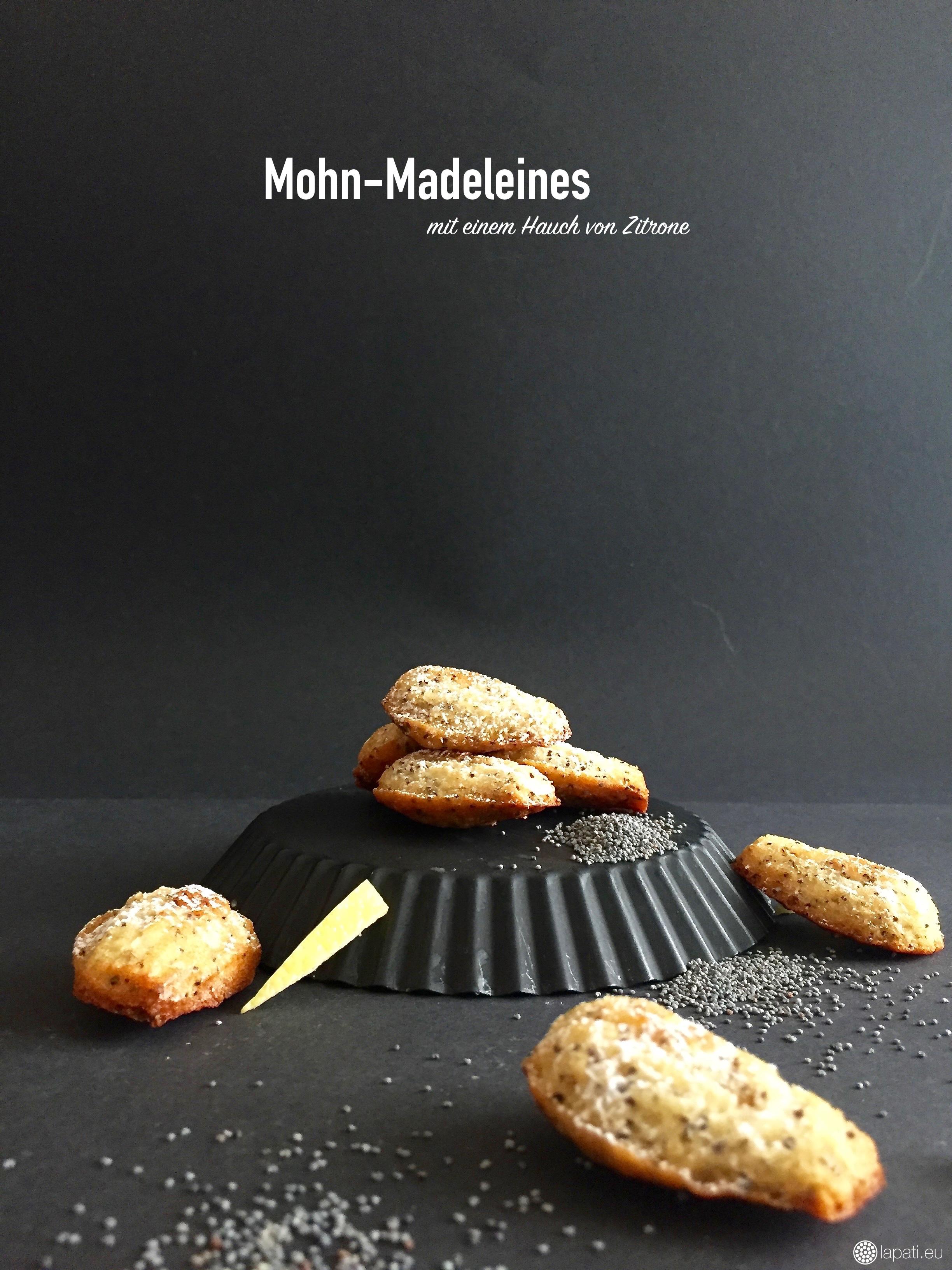 Frische Madeleines: Super einfaches Rezept und gelingt immer! Diese Sorte ist mit Mohn und Zitrone abgeschmeckt.