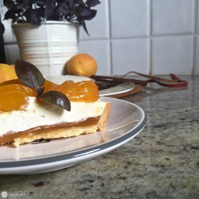 Ein Anschnitt macht Lust auf mehr. Eine Kombination aus Aprikose und Mascarpone in einem Tartelette vereint.
