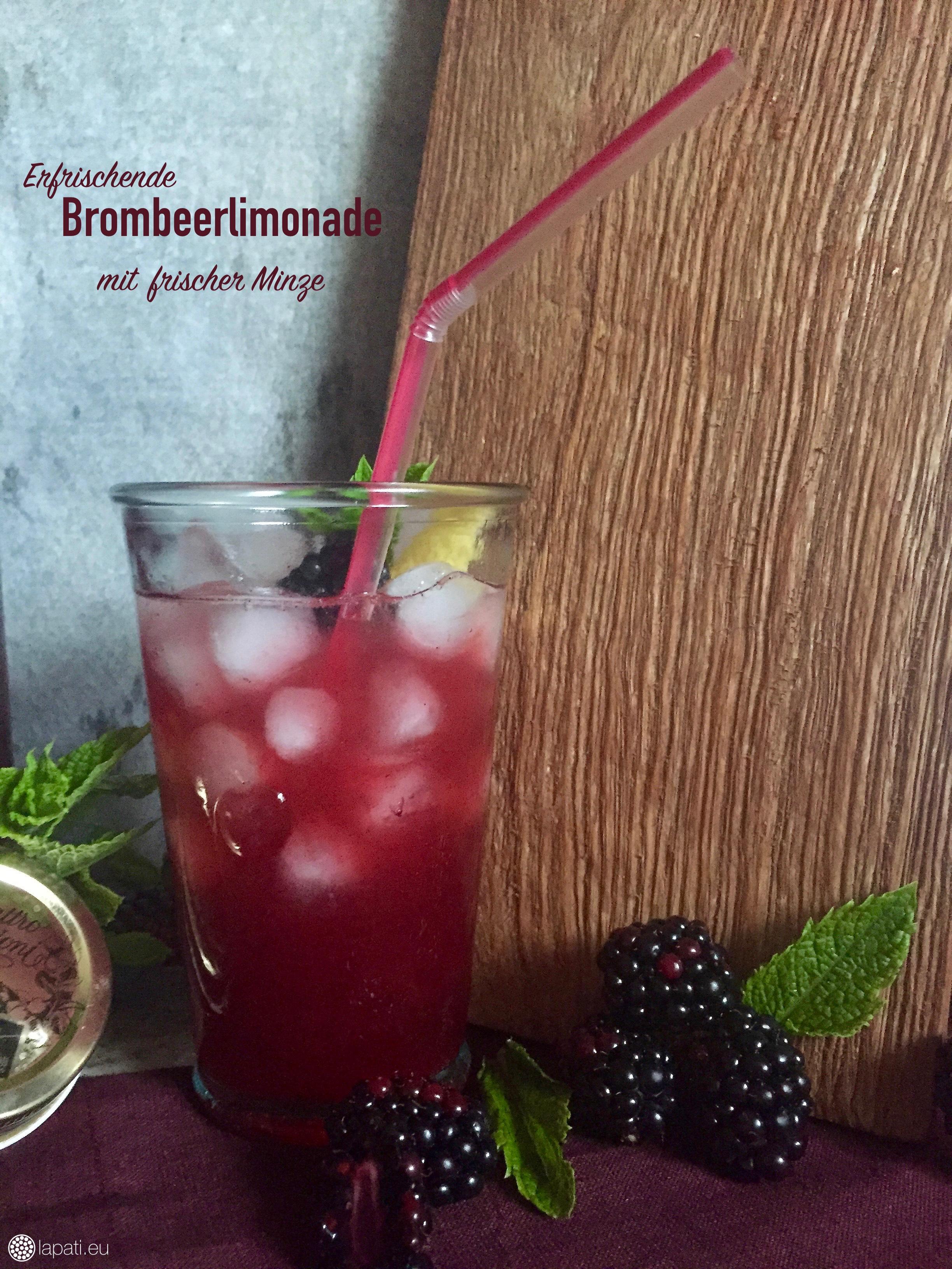 Sommerzeit ist Limozeit: Die beste Brombeerlimonade mit frischer Minze findet ihr im heutigen Rezept.