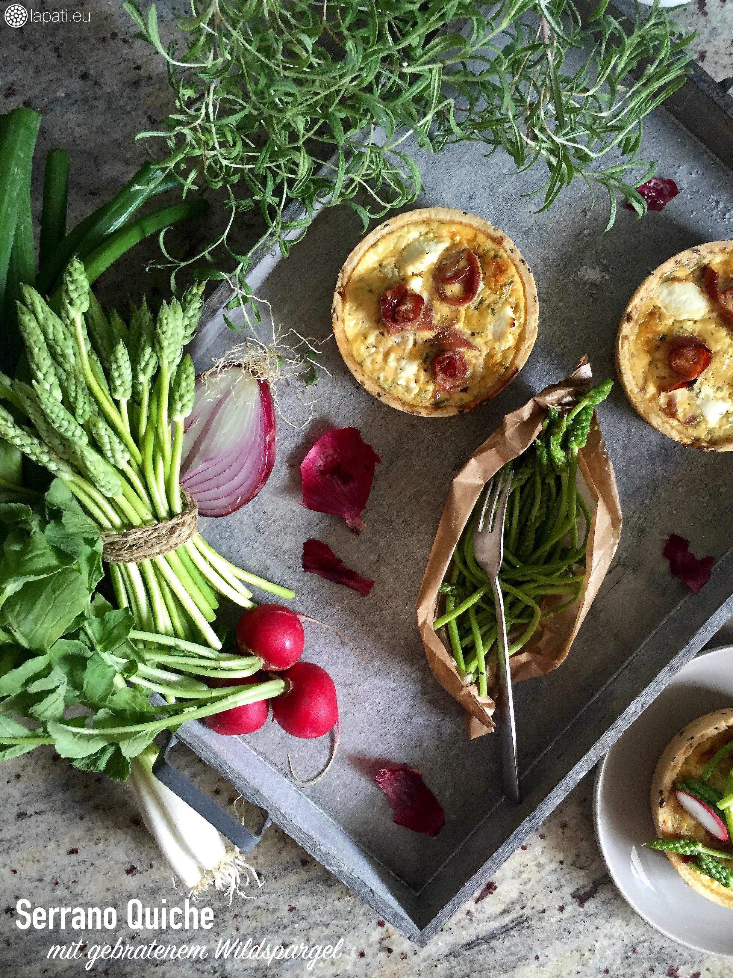 So gut: Serrano Quiche mit feinem Wildspargel aus Frankreich.