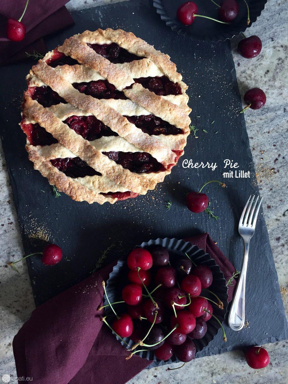 Frischer Cherry Pie auf der Theke, wenn der nicht gleich weg ist. Verfeinert mit einem Schuss Lillet.