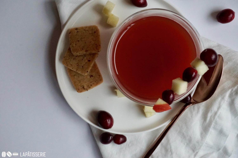 Ohne Kekse kein Punsch. Das gilt bei mir auch für den Cranberry-Apfel-Punsch.