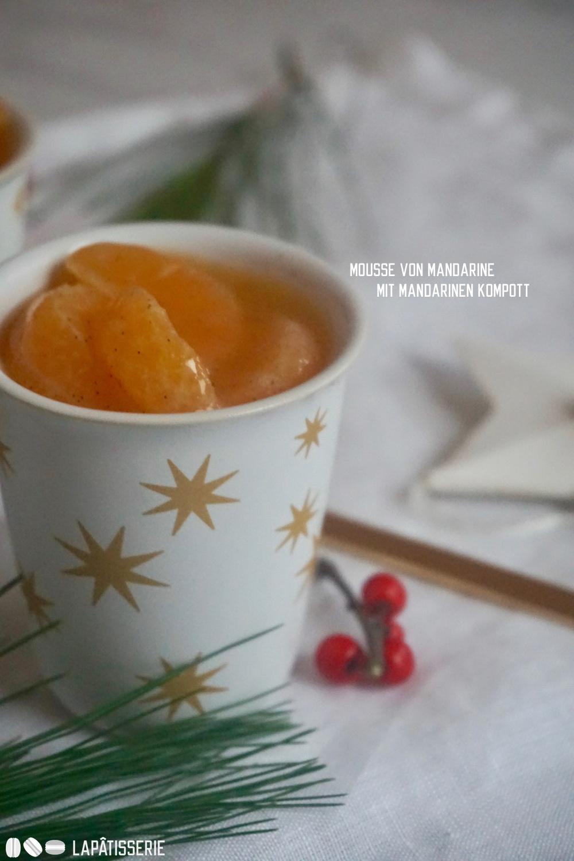 Unkompliziert, schnell gemacht und lecker: Mandarinenmousse im Glas zu Weihachten.