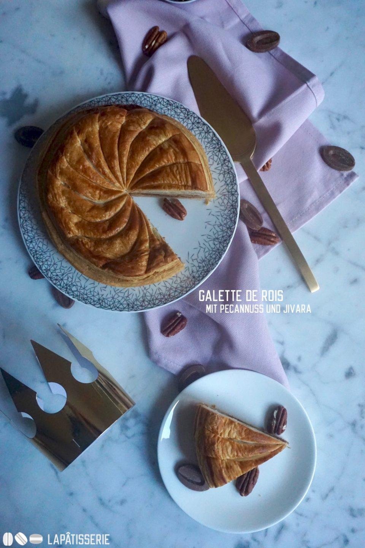 Galette de Rois aka Dreikönigskuchen: In diesem Jahr mit Pecannuss und cremiger Vollmilchschokolade.