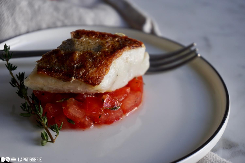 Sommerküche Tomaten : Sommer zarter zander auf tomaten u lapÂtisserie